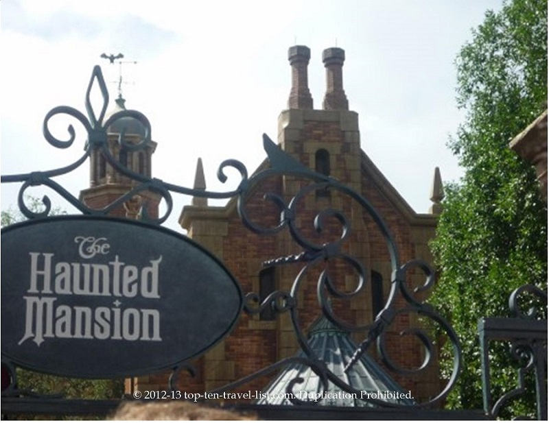 The Haunted Mansion ride at Walt Disney World's Magic Kingdom in Orlando, Florida