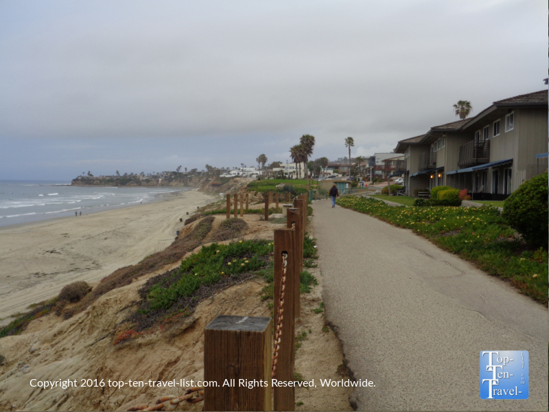 Picturesque views along the Pacific Beach boardwalk in San Diego CA