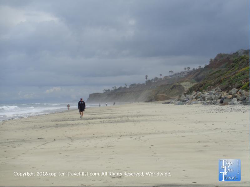 Strolling the stunning Torrey Pines State Beach near San Diego CA