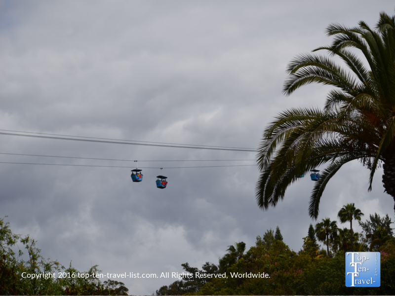 The Skyfari tram ride at the San Diego Zoo