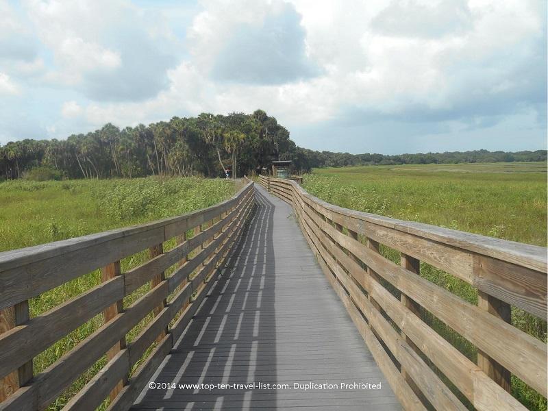 A birdwatching trail at Myakka River State Park in Sarasota.