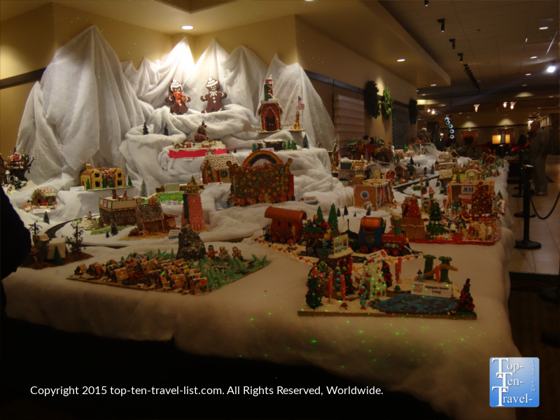 "The ""World's Largest Gingerbread Village"" at the Prescott Resort & Conference Center."