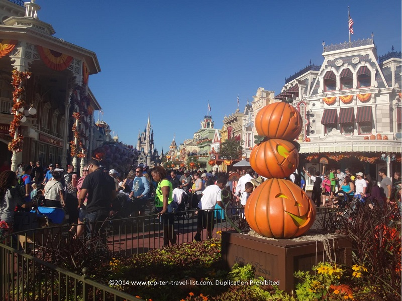 Main Street USA decorated for Halloween - the Magic Kingdom Walt Disney World