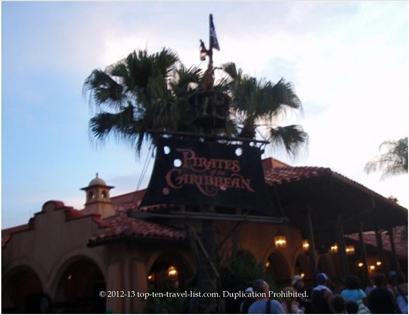 Pirates of the Carribean ride at Walt Disney World's Magic Kingdom park in Orlando, Florida