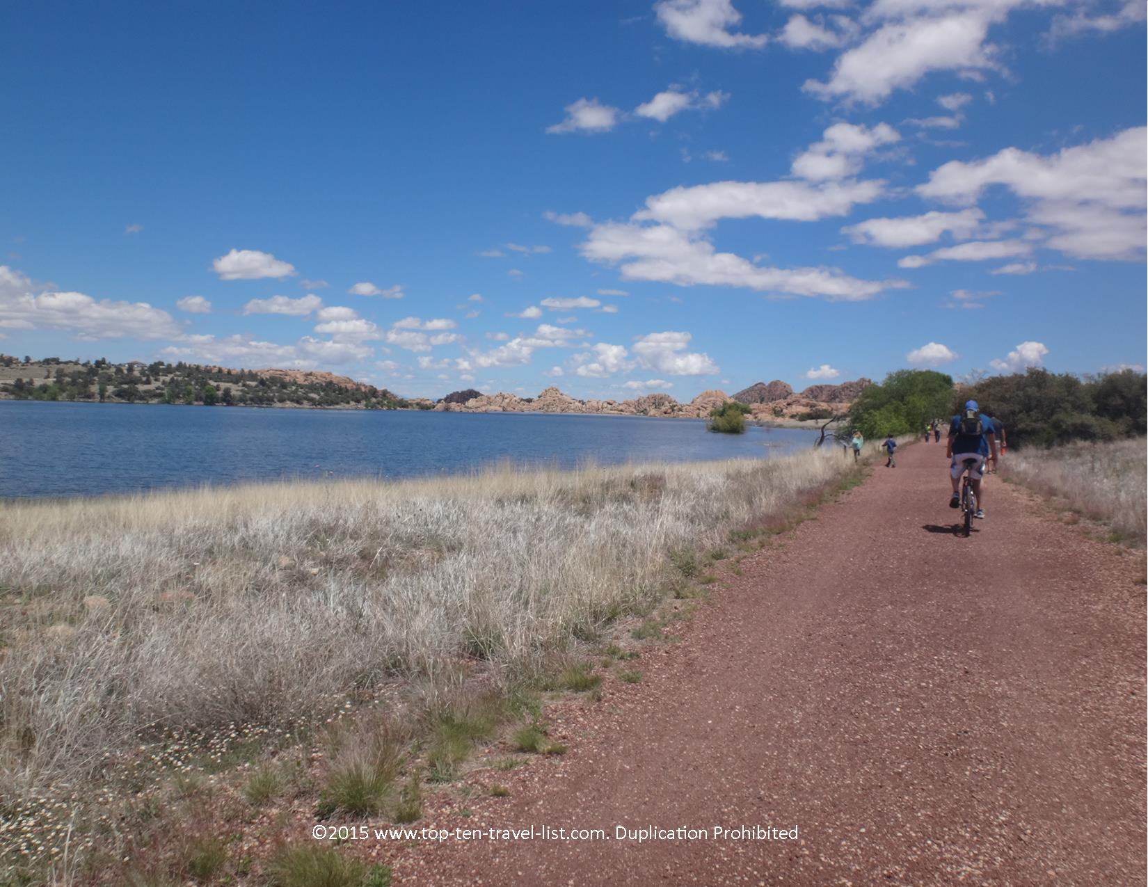 Scenic views of Watson Lake from the Peavine National Recreational Trail in Prescott, Arizona