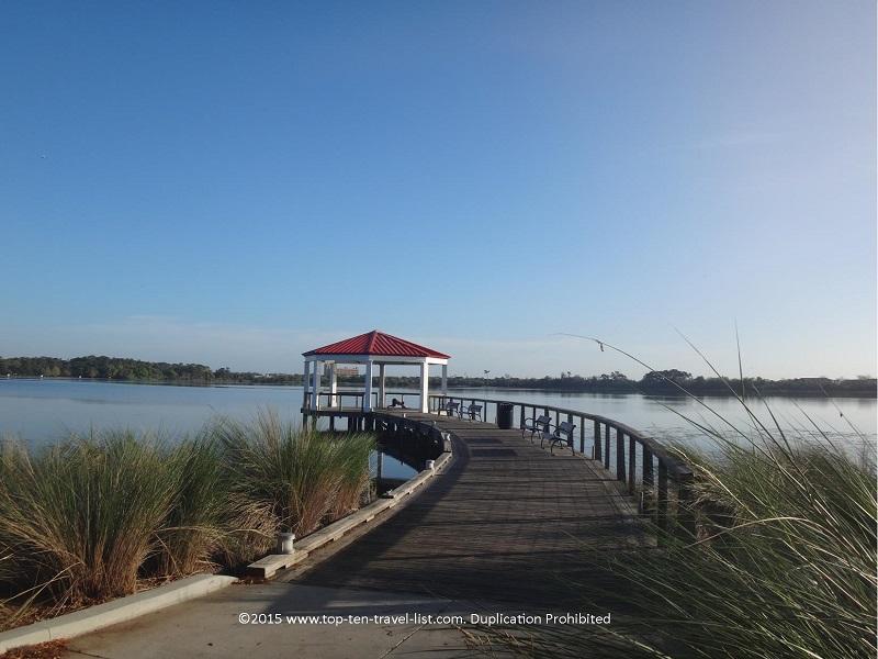 Great views at Lake Baldwin in Orlando, Florida. Take a stroll, jog, or bike ride along the paved path.