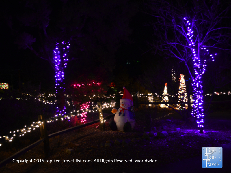 Strolling around Wild Lights at the Heritage Park Zoo is a fun, budget-friendly holiday activity for everyone!