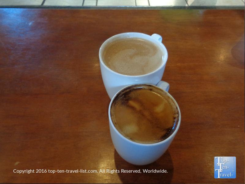 Americano and Mocha at Kickstand Kafe in Flagstaff AZ
