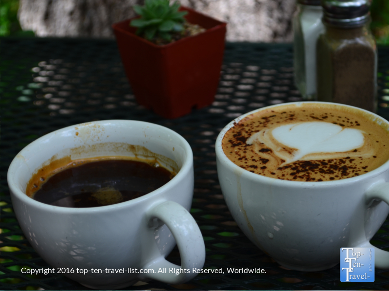 Delicious espresso at Indian Gardens on Oak Creek Canyon dr in Sedona AZ