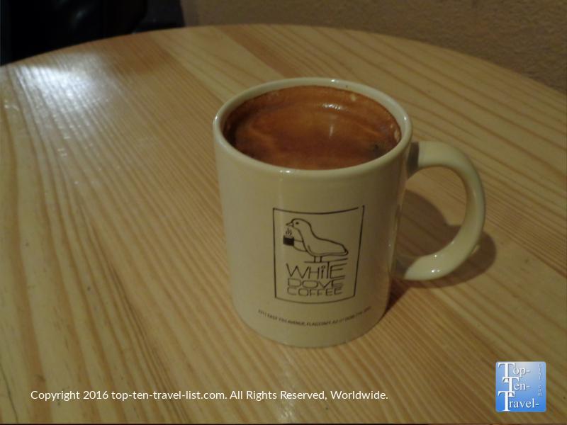 Fantastic Americano at White Dove Coffee in Flagstaff AZ