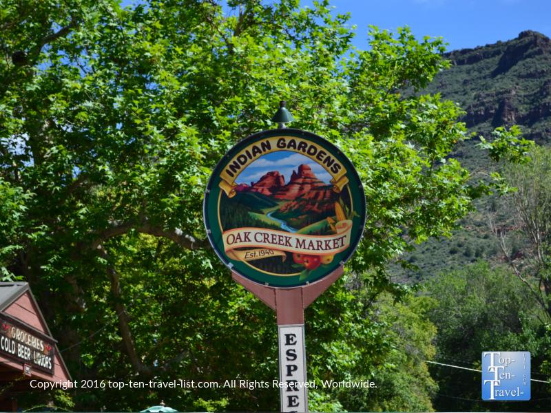 Indian Gardens on Oak Creek in Sedona Arizona