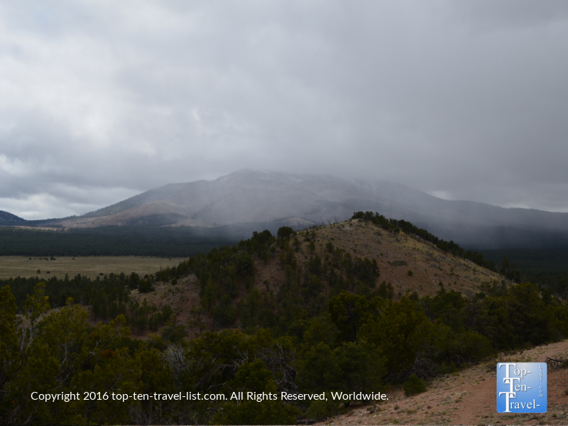 Misty views on the Slate Mountain trail in Flagstaff AZ