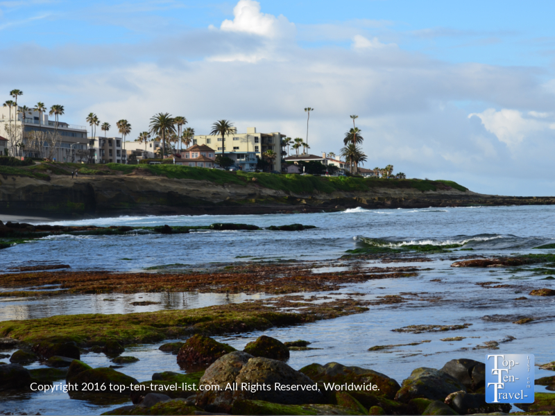 Peaceful scenery at La Jolla Cove San Diego