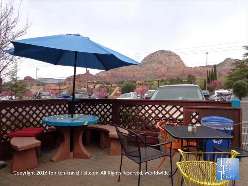 Red Rock views at Java Love in Sedona Arizona