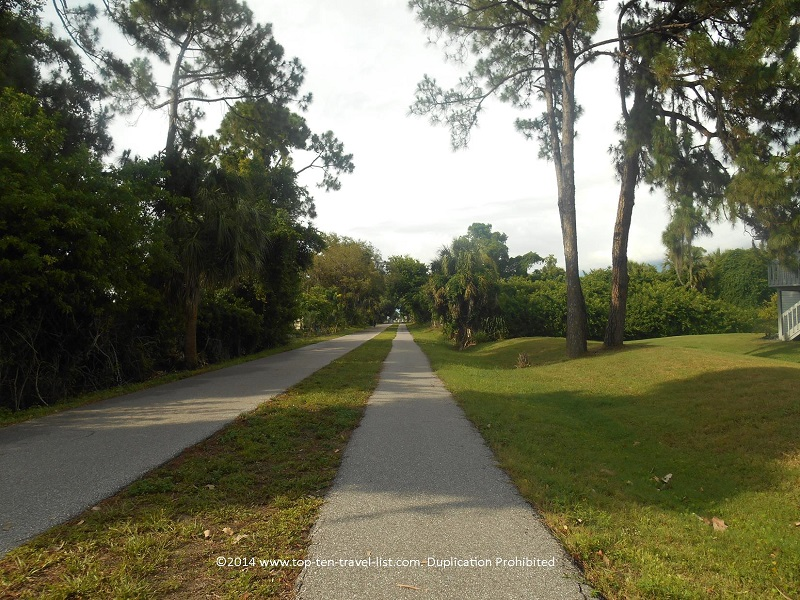A tree-lined section of the beautiful Pinellas Trail on Florida's Gulf Coast