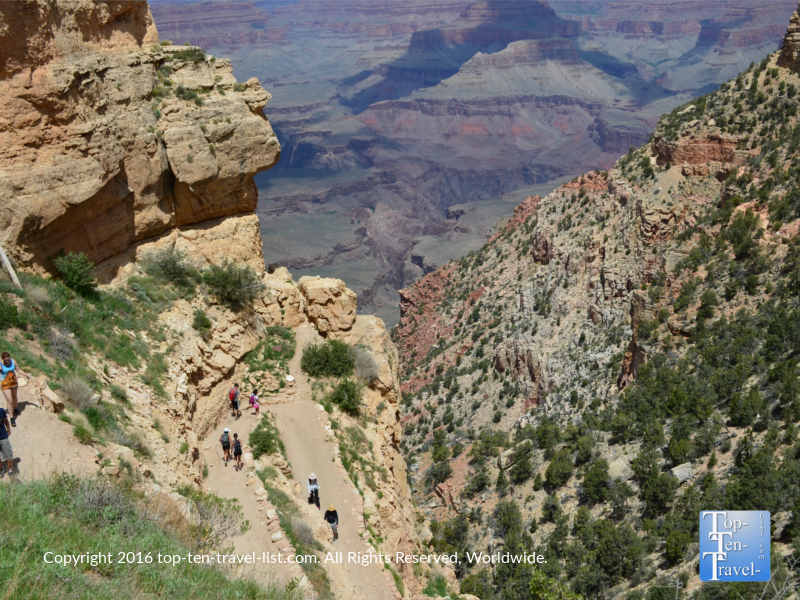 A look down at the beautiful Kalibab trail at the Grand Canyon