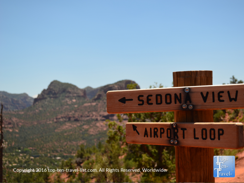 The scenic Airport Mesa loop hiking trail in Sedona, Arizona