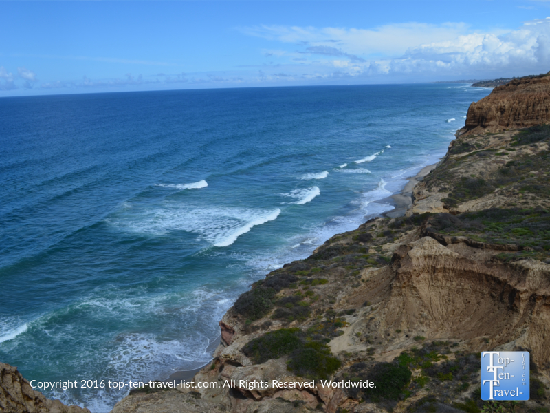 Amazing views of the coast at Torrey Pines Nature Reserve in La Jolla CA
