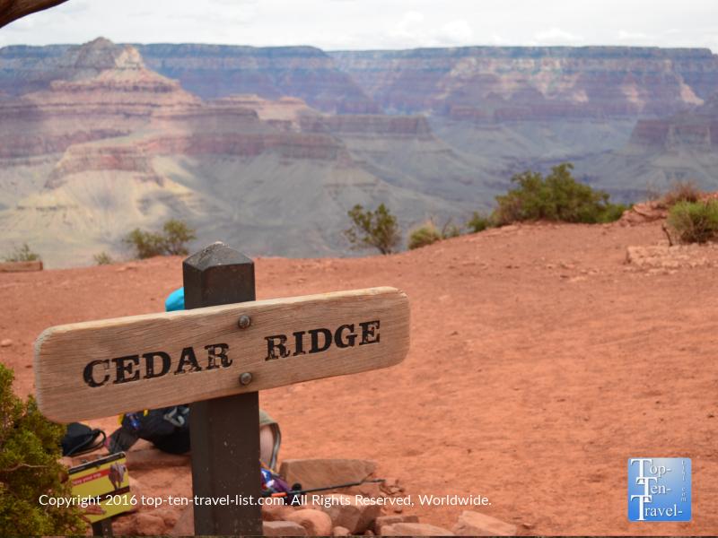 Cedar Ridge halfway point of the Kalibab Trail - Grand Canyon