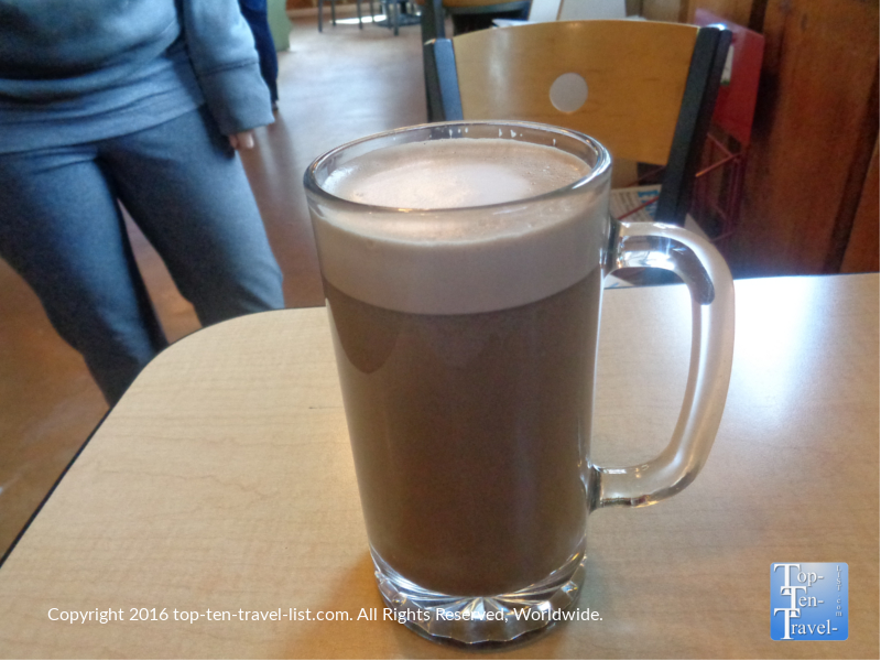 The Dark Skies Mocha at Late for the Train is the best in town!