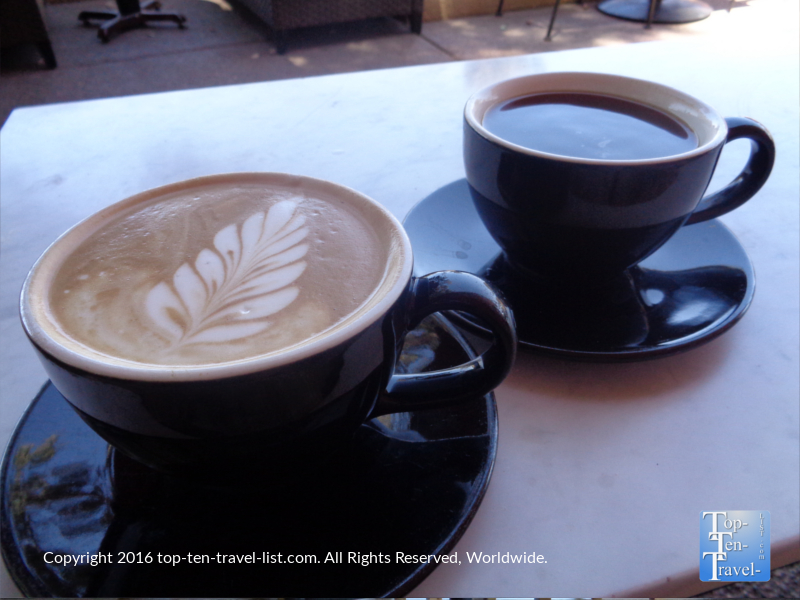 Espresso drinks at Altitudes Coffee Lab in Scottsdale AZ