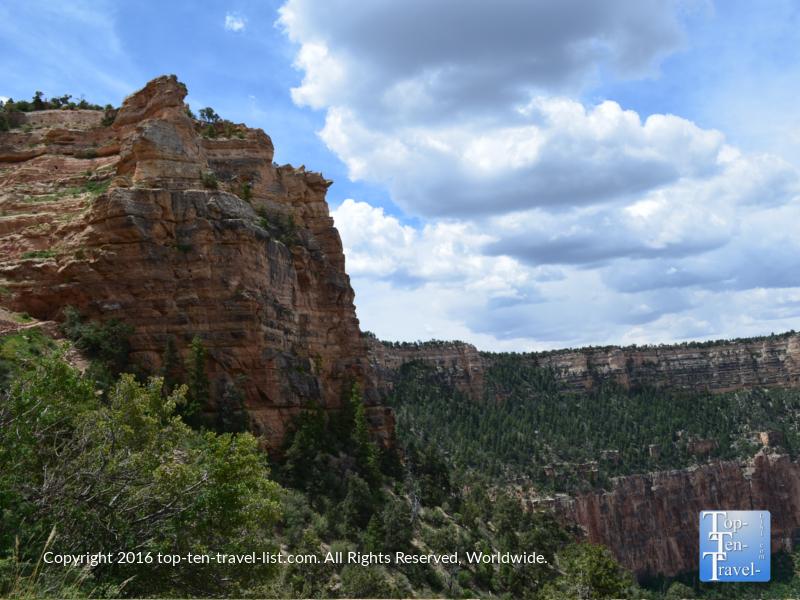 Nice views along the Kalibab trail at the Grand Canyon