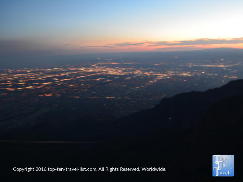 Night views of Albuquerque from Sandia Peak