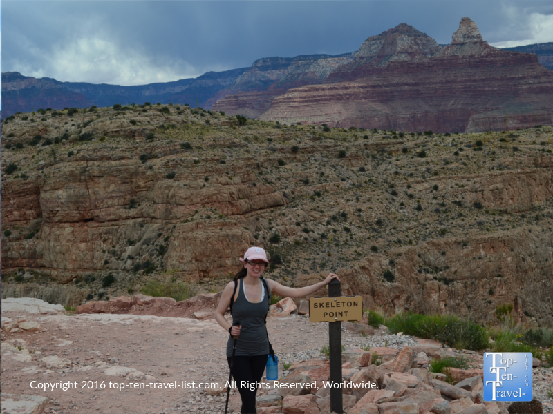 Pic by Skeleton Point sign - Kalibab Trail at the Grand Canyon