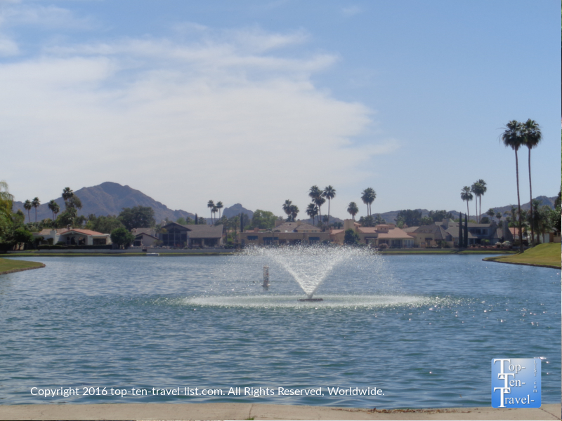Scenic water views along the Scottsdale Greenbelt