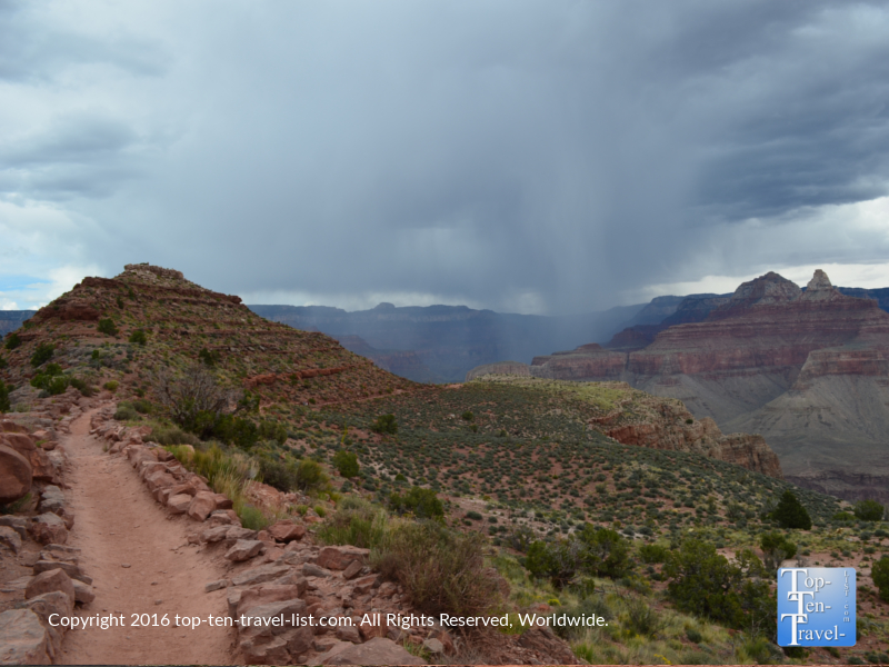 The Kalibab trail on a stormy day - The Grand Canyon