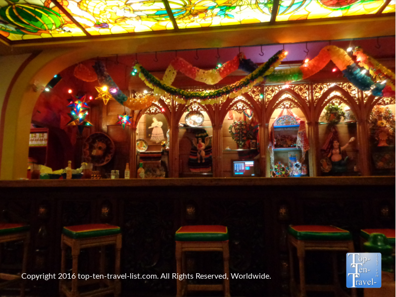 The colorful setting of Casa Guadalajaro in San Diego CA