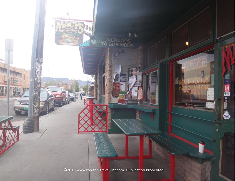 Macy's coffee in downtown Flagstaff, Arizona
