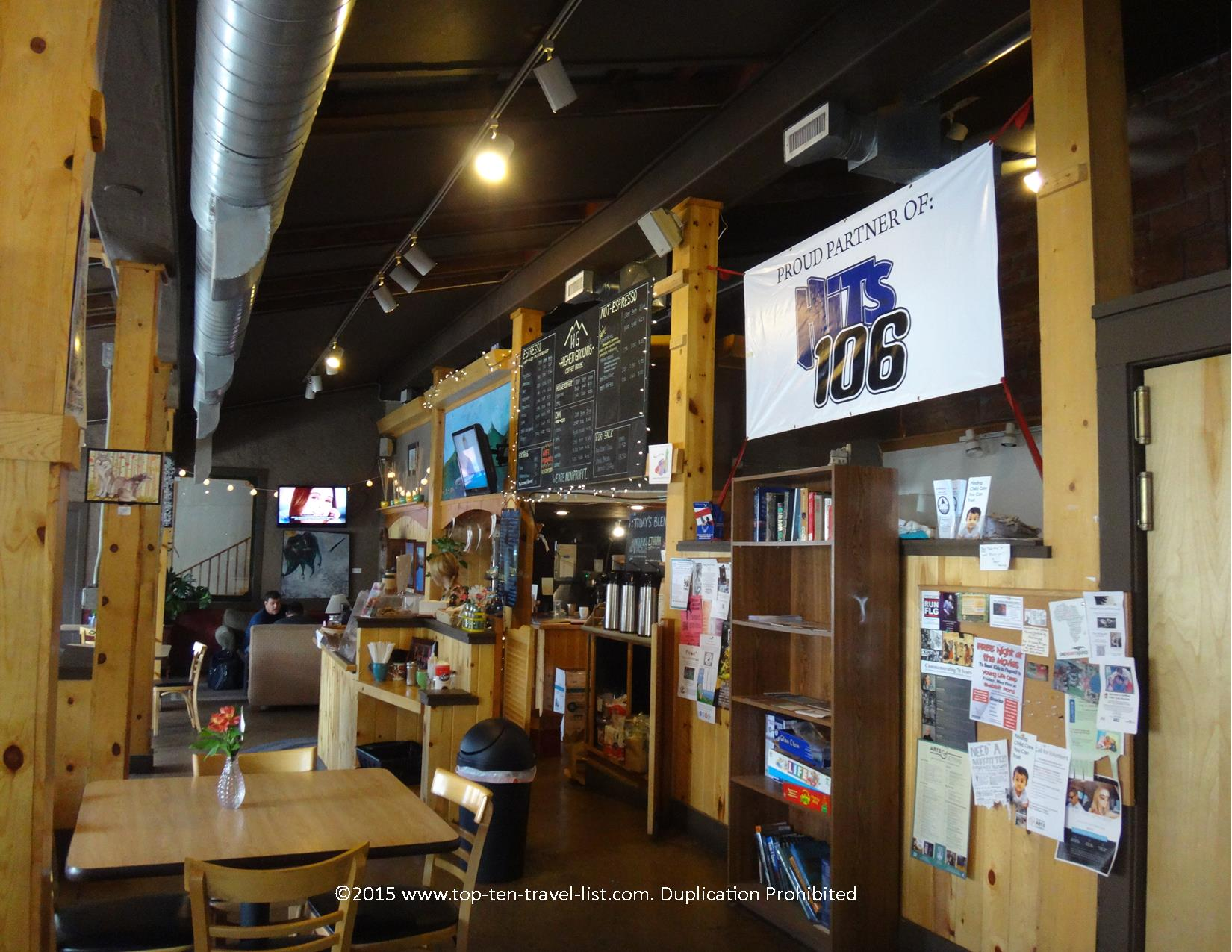 Higher Grounds Coffee shop in Flagstaff, Arizona