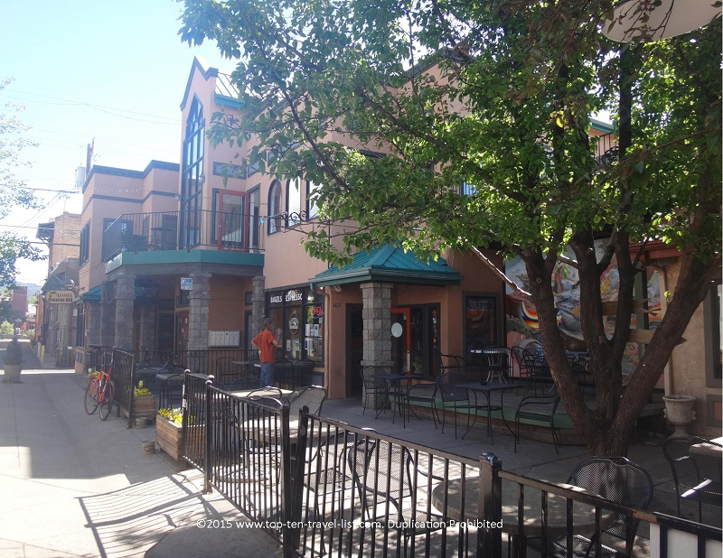 Even this beautiful outdoor patio cannot make up for the horrible drinks at Flagstaff Coffee Company!