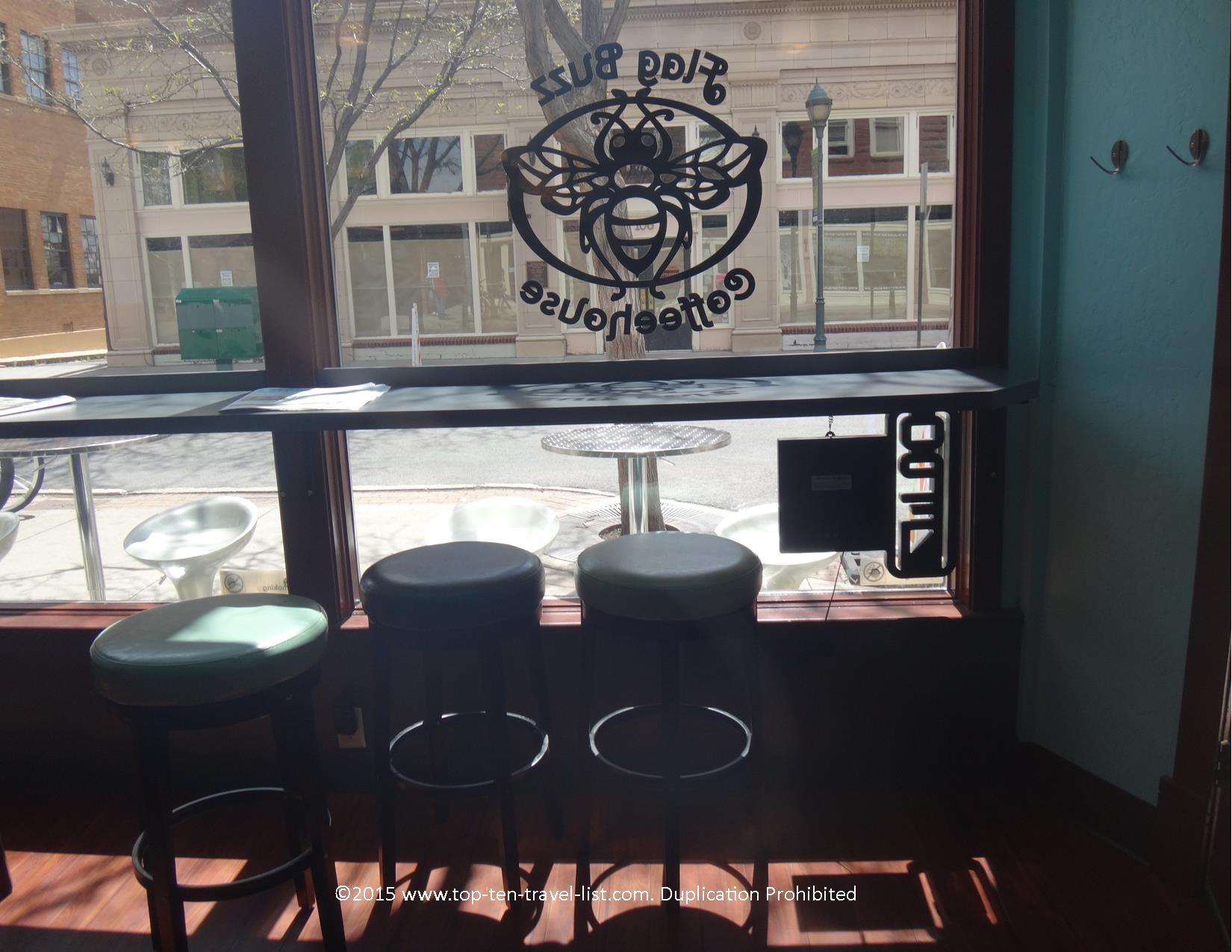Flag Buzz is the perfect spot in town to people watch and enjoy a nice espresso drink.