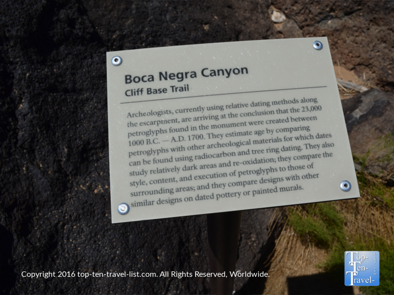 Boca Negra Canyon hike at Petroglyph National Monument
