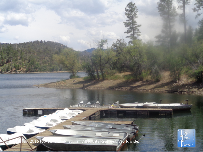 Canoes and paddleboat rentals at Lynx Lake in Prescott AZ