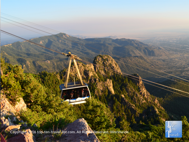 Close up of Sandia peak tramway ride in Albuquerque NM
