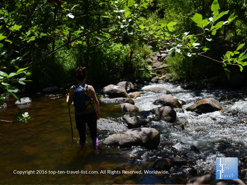Creek crossing along the Huckaby Trail in Sedona AZ