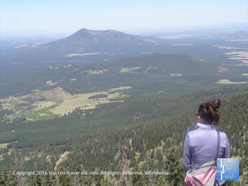Enjoying the mountain views at Arizona Snowbowl