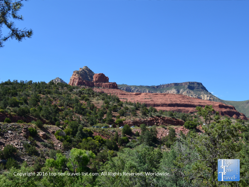 Gorgeous red rock landscapes along the Huckaby Trail in Sedona AZ