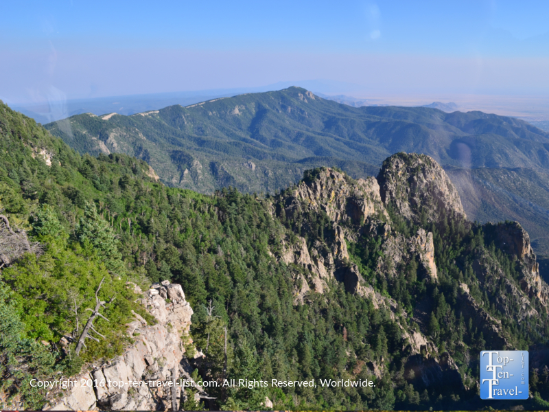 Gorgeous views of the mountains and forests from the Sandia Peak tramway in Albuquerque NM