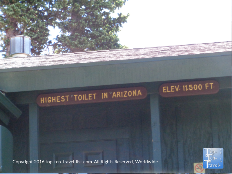 At the top, you will be able to say that you used the highest bathroom in Arizona!