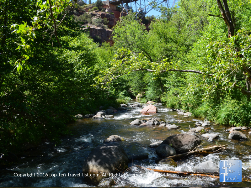 Pretty creek views along the Huckaby Trail in Sedona AZ