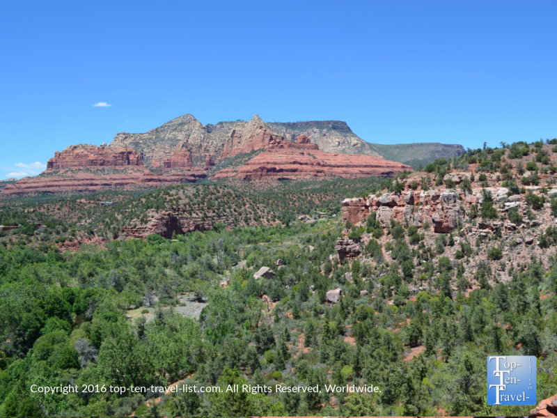 Scenic views from the Huckaby Trail in Sedona AZ