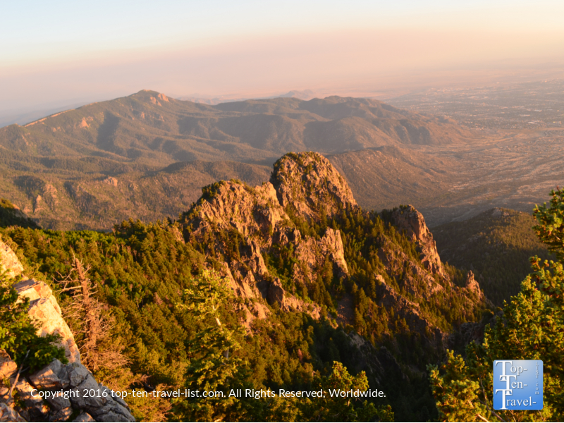 Sunset pver the Sandia mountains in Albuquerque NM
