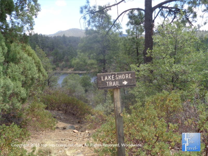 The beautiful Lakeshore Trail in Prescott AZ