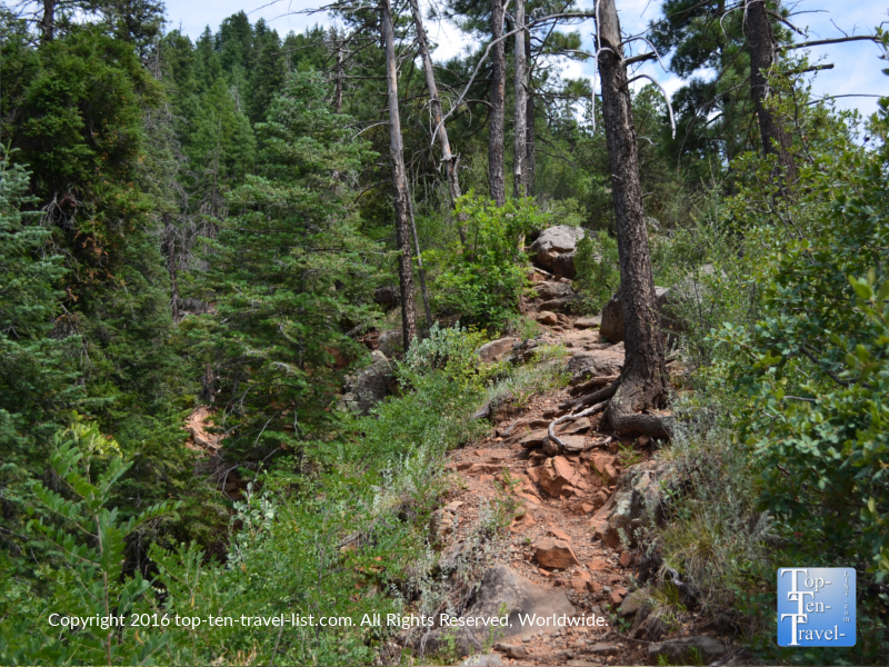 Uphill climb on the Cookstove Trail in Sedona AZ