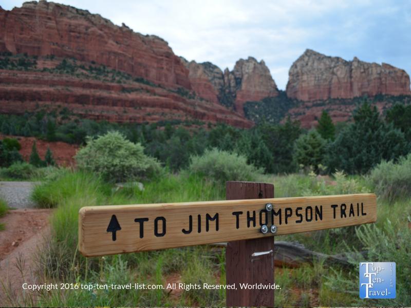 Beautiful Jim Thompson Trail in Sedona AZ