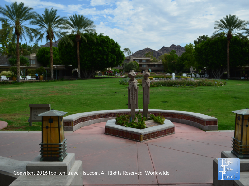 Beautiful landscaped grounds of the Arizona Bitmore in Phoenix